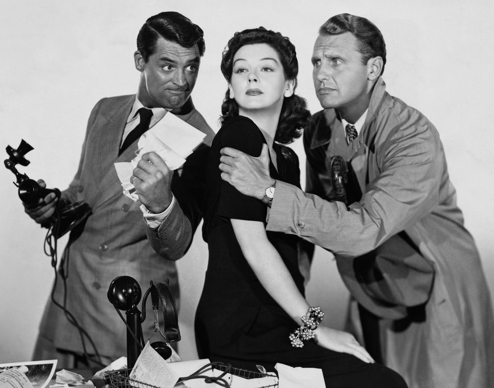 Cary Grant,Rosalind Russell and Ralph Bellamy in